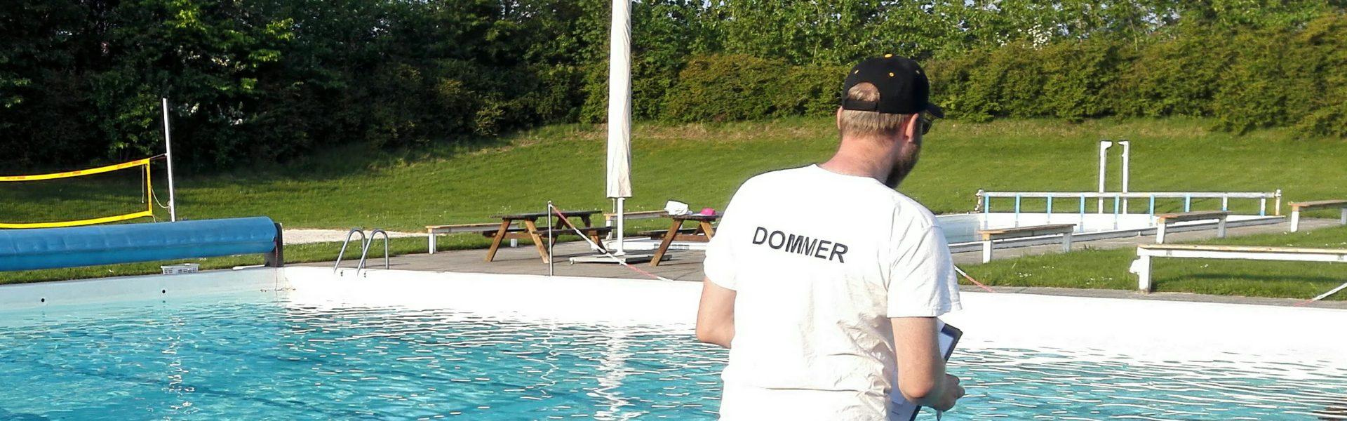 Bassinlivredderprøve, Friluftsbad - Livredderklub Midtjylland